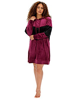 Pretty Lounge Velour Panel Dress