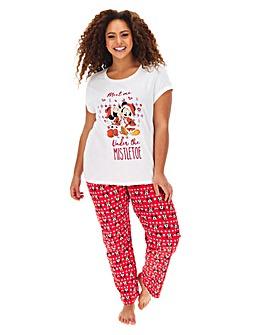 Mickey and Minnie Mistletoe Pyjama Set