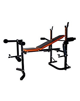 V-fit Folding Weight Training Bench