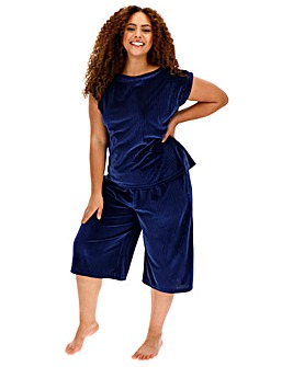 Pretty Secrets Pleated Velour PJ Set