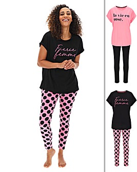 Pretty Secrets 2 Pk Legging Sets