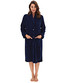Button Fleece Gown L48