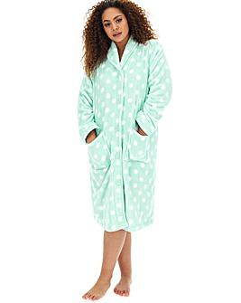 Button Fleece Gown L48
