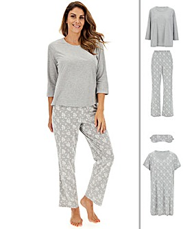 Pyjama, Nightie and Eyemask Bundle
