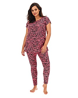 Zebra Print Cotton Jersey Legging Set