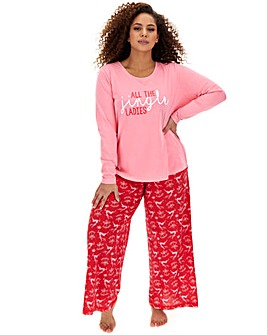 Pretty Secrets Christmas Wide Leg PJ Set