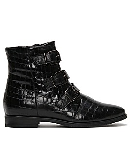 Daniel Roppie Reptile Buckle Ankle Boots