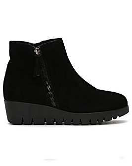 Daniel Riddle Low Wedge Ankle Boots