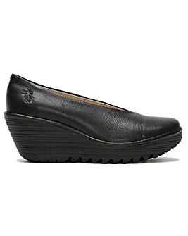 Fly London Yaz Leather V Front Shoes