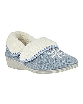 Lotus Irene Textile Slippers D Fit