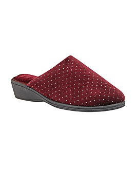 Lotus Maggie Textile Mule Slippers D Fit