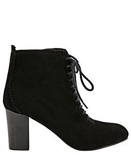 Monsoon Lia Suede Lace Up Ankle Boot