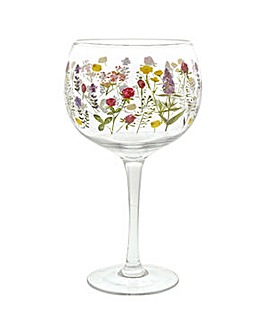 Ginology Wildflowers Copa glass
