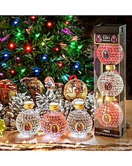 Pink 47 Christmas Gin Baubles 3 x 5cl