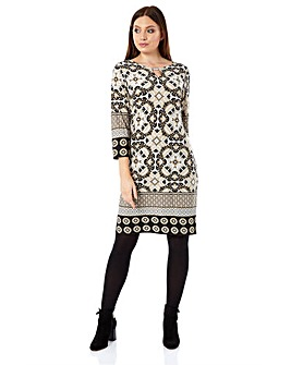 Roman Originals Tile Print Shift Dress