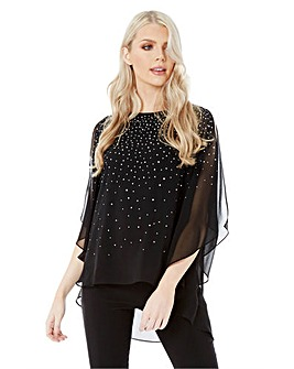 Roman Originals Embellished Chiffon Top