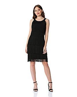 Roman Tassel Embellished Flapper Dress