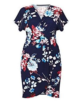 Mela London Curve Floral Wrap Dress