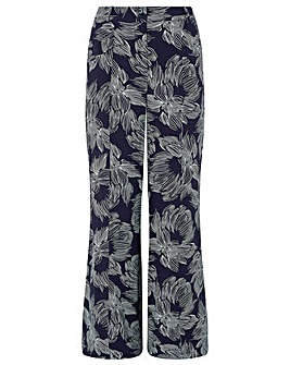Monsoon Chelsea Printed Wide Leg Trouser