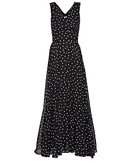 Gina Bacconi Calandra Spot Maxi Dress