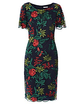 Gina Bacconi Vienna Embroidered Dress