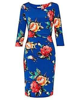 Gina Bacconi Yanina Floral Print Dress