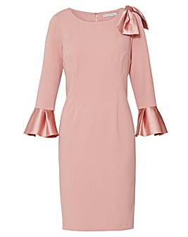 Gina Bacconi Adrita Crepe Satin Dress