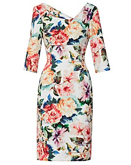 Gina Bacconi Isolena Floral Scuba Dress