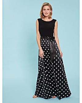Gina Bacconi Ilythia Spot Maxi Dress