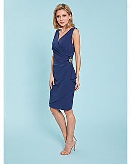 Gina Bacconi Terri Crepe Wrap Dress