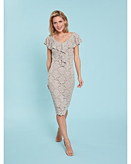 Gina Bacconi Starla Dress With  Frill