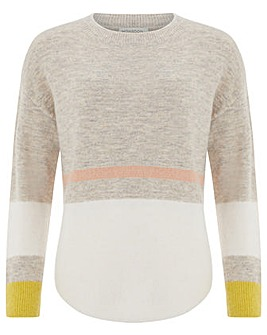 Monsoon Carice Colour Block  Jumper
