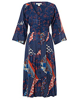 Monsoon Dakota Patch Print Midi Dress