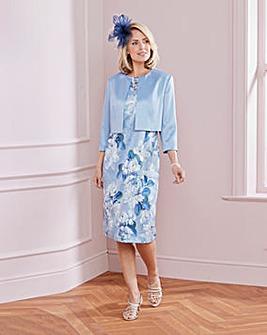 Nightingales Print Dress and Jacket