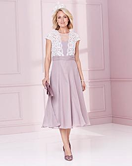 Nightingales Lace Top Chiffon Dress