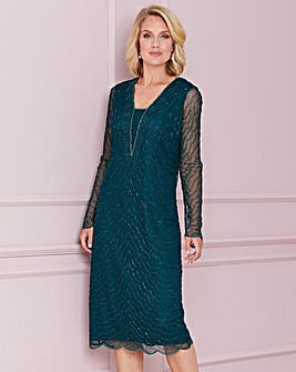Nightingales Beaded Shift Dress
