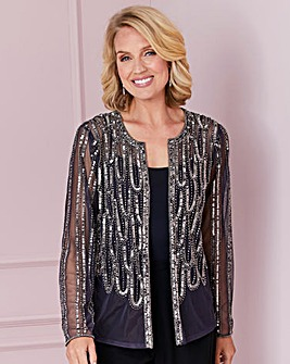 Nightingales Pewter Beaded Jacket