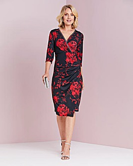 Nightingales Embellished Print Dress