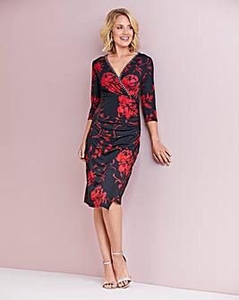 Nightingales Embellished Print Dress