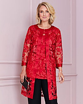 Nightingales Red Embroidered Jacket