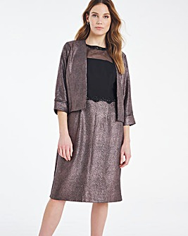 Nightingales Metallic Dress And Jacket