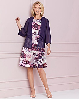 Nightingales Print Dress And Jacket