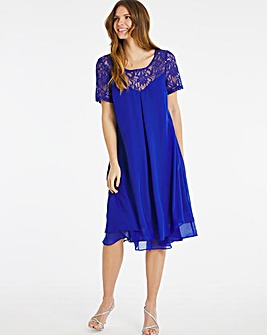 Nightingales Lace Sequin Swing Dress