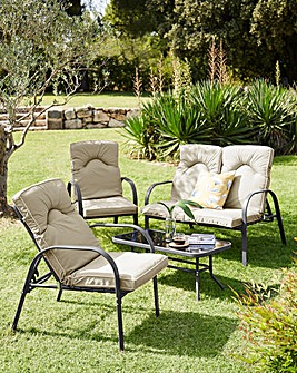 Verona Cushioned Reclining Lounge Set