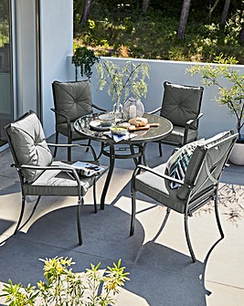 Siena Cushioned 4 Seater Dining Set