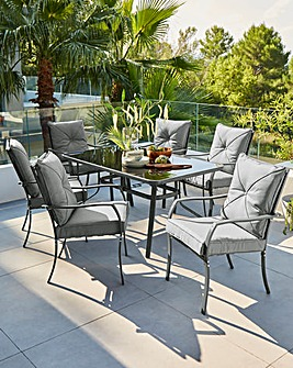 Siena Cushioned 6 Seater Dining Set