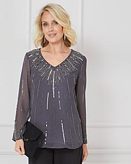 Nightingales Beaded Top