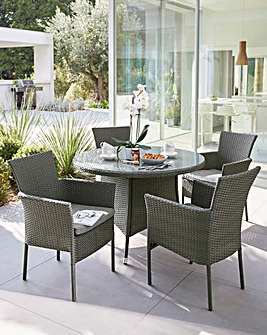 Almeria Rattan 4 Seater Dining Set
