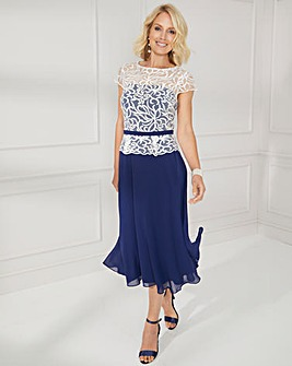 Nightingales Embroidered Swing Dress