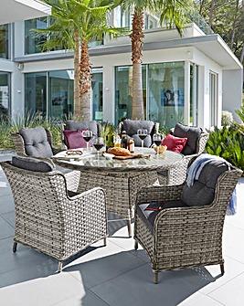 Portofino Circular 6 Seater Dining Set